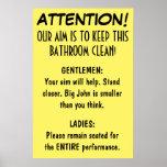Limpie el cuarto de baño posters