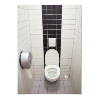 Limpie el cuarto de baño tejado invitación 12,7 x 17,8 cm