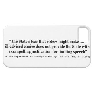 Limpie el departamento de Chicago v Mosley los 408 Funda Para iPhone 5 Barely There