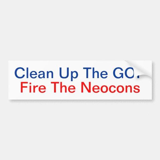 Limpie el fuego del GOP la pegatina para el parach Pegatina De Parachoque