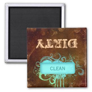 Limpie el grunge floral del imán sucio del lavapla