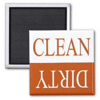 Limpie el imán del lavaplatos del sucio-Naranja
