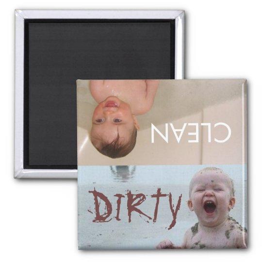 limpie el imán sucio de los bebés