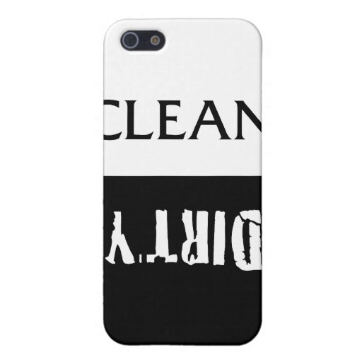 Limpie el imán sucio de los platos iPhone 5 carcasas