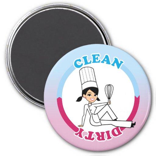 Limpie el imán sucio del lavaplatos con el ejemplo