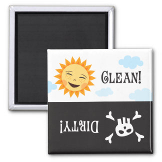 Limpie el imán sucio del lavaplatos con el sol y e