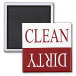 Limpie el imán sucio-marrón del lavaplatos
