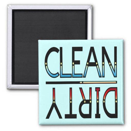 Limpie el imán sucio, negro rojo amarillo azul