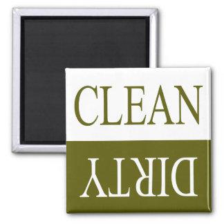 Limpie el imán verde del lavaplatos de la sucio-Ac