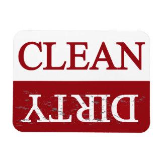 Limpie el lavaplatos marrón sucio imán