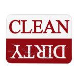 Limpie el lavaplatos marrón sucio imanes