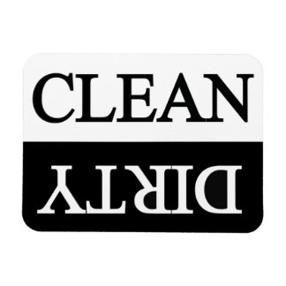 Limpie el lavaplatos negro sucio imanes flexibles