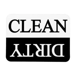 Limpie el lavaplatos negro sucio imanes de vinilo