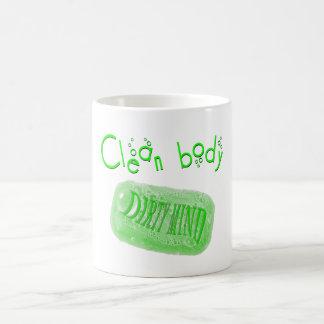 ¡Limpie el mensaje sucio del jabón de la mente del Taza Clásica