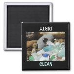Limpie el personalizado sucio del lavaplatos de lo iman de nevera