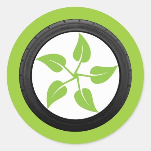 Limpie el poder verde pegatinas