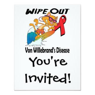 Limpie hacia fuera a Von Willebrands Disease Invitaciones Personalizada