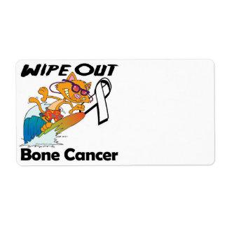 Limpie hacia fuera al cáncer de hueso etiquetas de envío