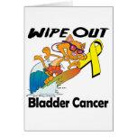 Limpie hacia fuera al cáncer de vejiga tarjeta de felicitación