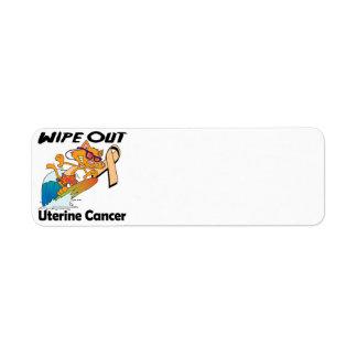 Limpie hacia fuera al cáncer uterino etiqueta de remite