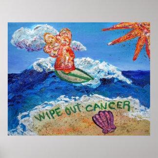 Limpie hacia fuera el ángel del cáncer poster