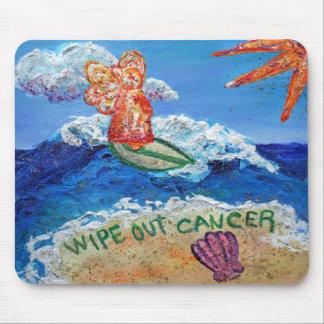 Limpie hacia fuera el ángel Mousepad del cáncer