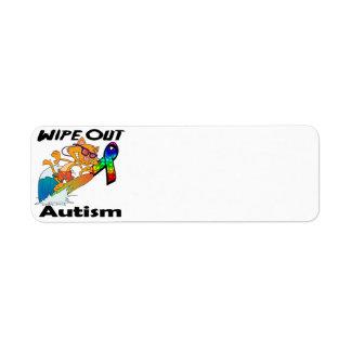 Limpie hacia fuera el autismo etiquetas de remite