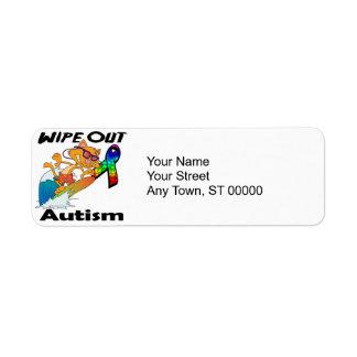 Limpie hacia fuera el autismo etiqueta de remite