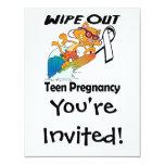 Limpie hacia fuera el embarazo adolescente anuncios