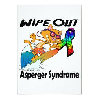 Limpie hacia fuera el síndrome de Asperger Invitación 12,7 X 17,8 Cm