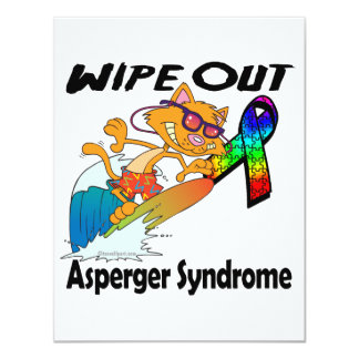 Limpie hacia fuera el síndrome de Asperger Invitación 10,8 X 13,9 Cm