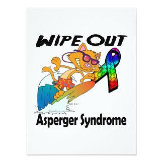 Limpie hacia fuera el síndrome de Asperger Invitación 16,5 X 22,2 Cm