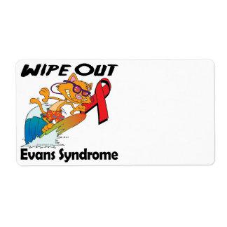 Limpie hacia fuera el síndrome de Evans Etiquetas De Envío