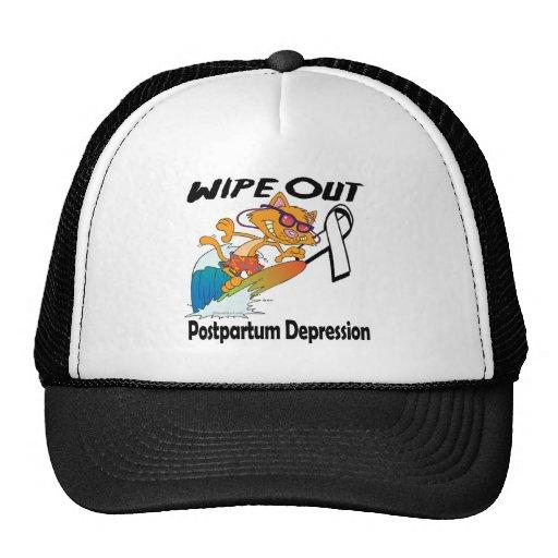 Limpie hacia fuera la depresión postparto gorro de camionero