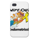 Limpie hacia fuera la endometriosis iPhone 4 fundas