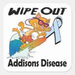 Limpie hacia fuera la enfermedad de Addisons Pegatina Cuadradas Personalizadas