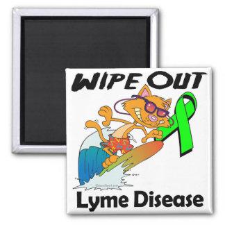 Limpie hacia fuera la enfermedad de Lyme Imán Cuadrado
