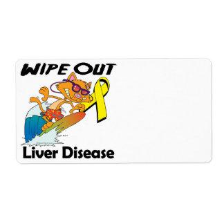 Limpie hacia fuera la enfermedad del higado etiqueta de envío