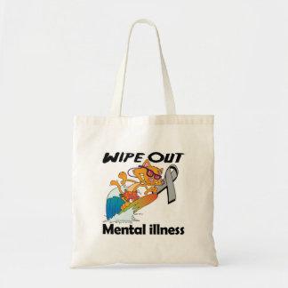 Limpie hacia fuera la enfermedad mental bolsa lienzo