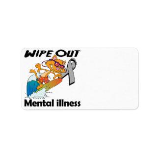 Limpie hacia fuera la enfermedad mental etiqueta de dirección