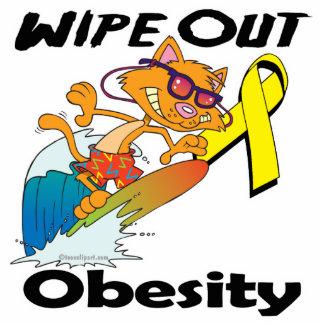 Limpie hacia fuera la obesidad esculturas fotográficas