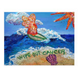 Limpie hacia fuera la postal del ángel del cáncer
