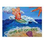 Limpie hacia fuera la postal del cáncer del cáncer