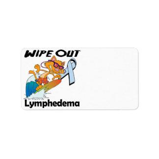 Limpie hacia fuera Lymphedema Etiquetas De Dirección