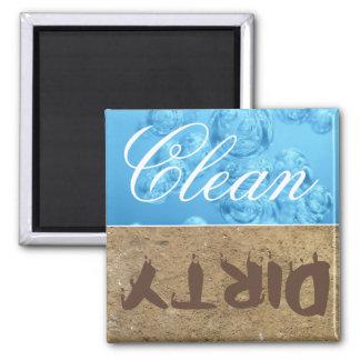 Limpie/imán sucio del lavaplatos imán cuadrado
