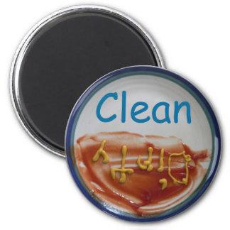 Limpie/imán sucio del lavaplatos imán redondo 5 cm