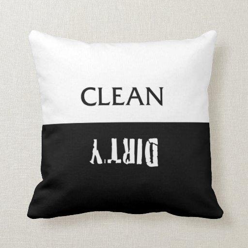 Limpie la almohada sucia del imán de los platos