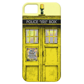 Limpie la caja (amarilla) pública del iPhone 5 de iPhone 5 Funda
