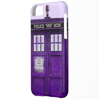 Limpie la caja (púrpura) pública del iPhone 5 de l Funda Para iPhone 5C