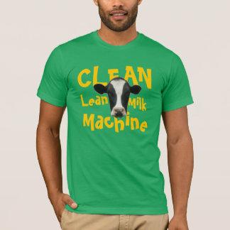 Limpie la camiseta divertida de la vaca de la